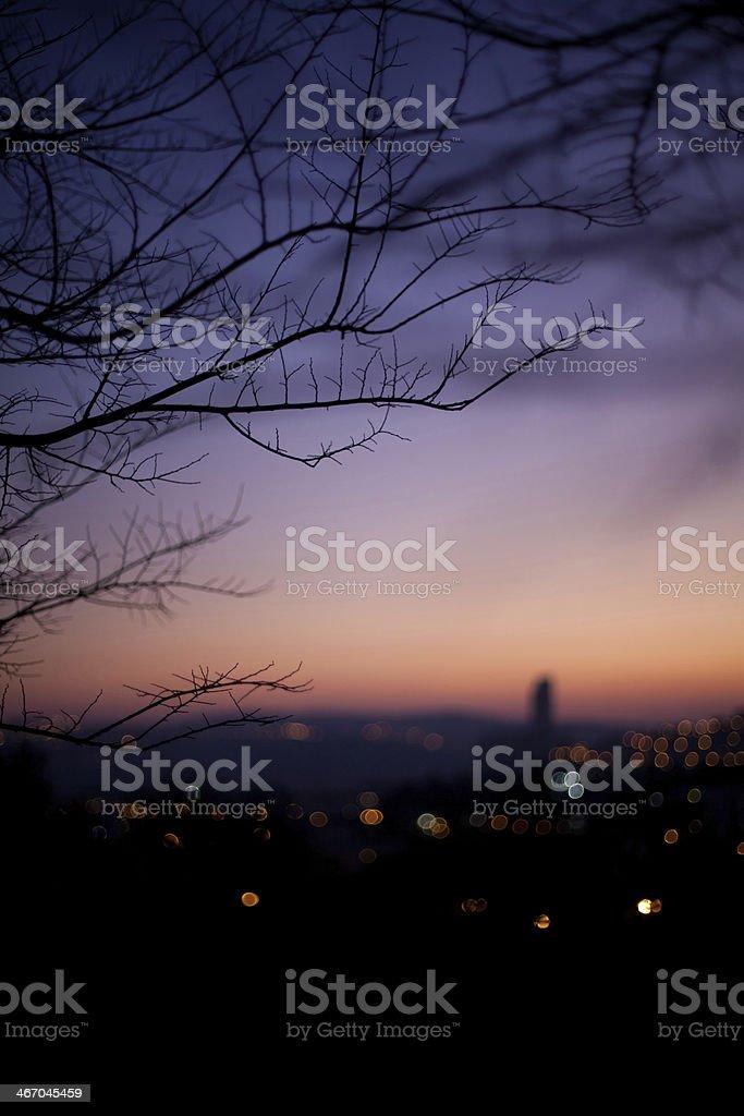 Skyline of Jerusalem at sunset royalty-free stock photo