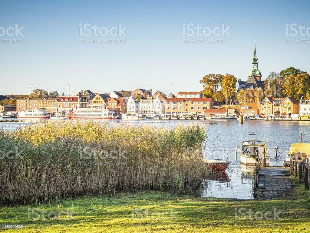 Skyline of Kappeln - Schleswig-Holstein, Germany stock photo