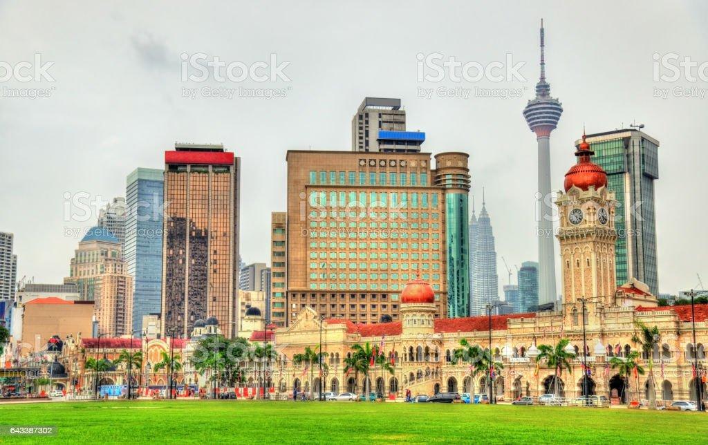 Skyline of Kuala Lumpur from Merdeka Square stock photo