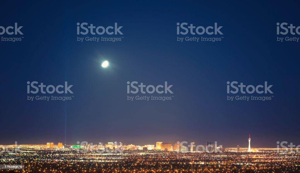 Skyline of Las Vegas valley royalty-free stock photo