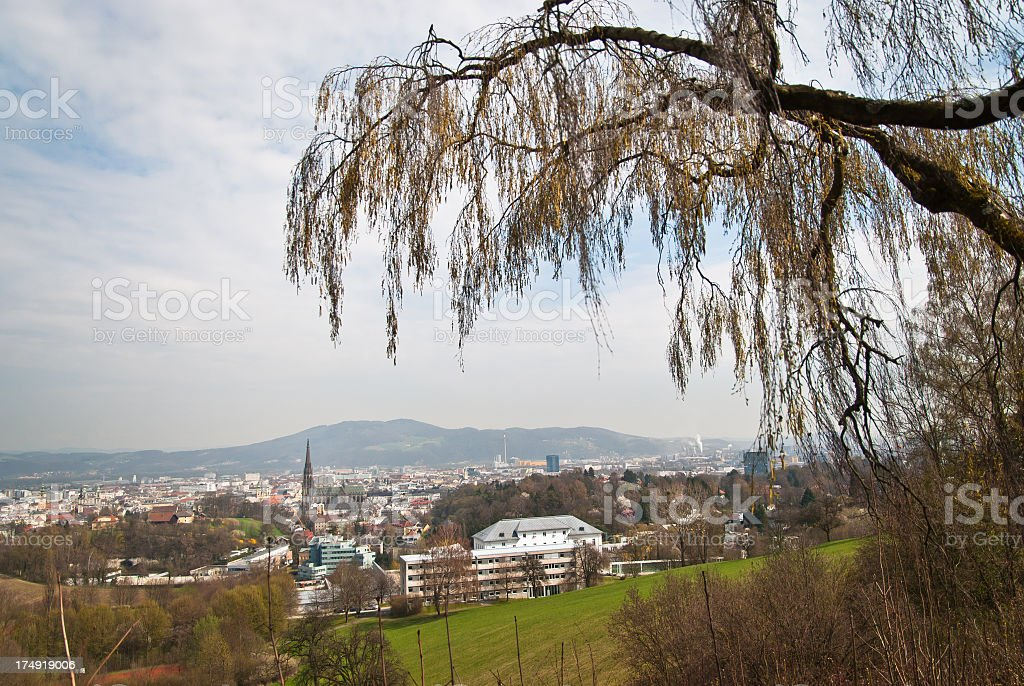 Skyline of Linz royalty-free stock photo