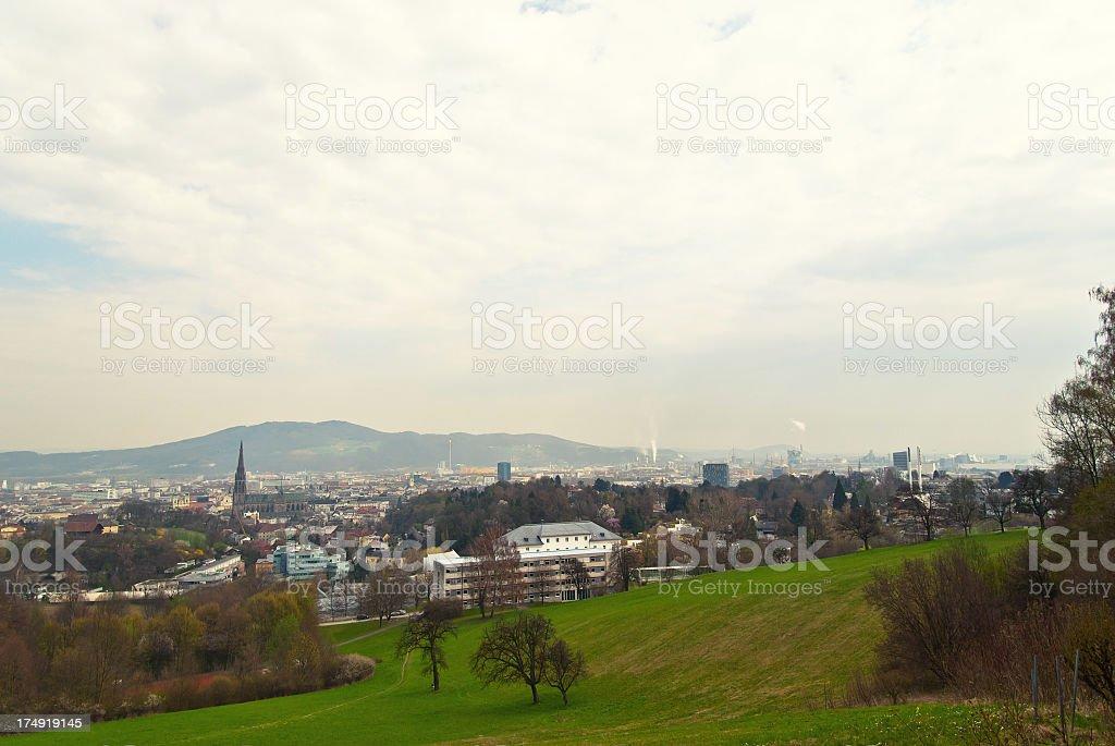 Skyline of Linz royalty-free stock photo