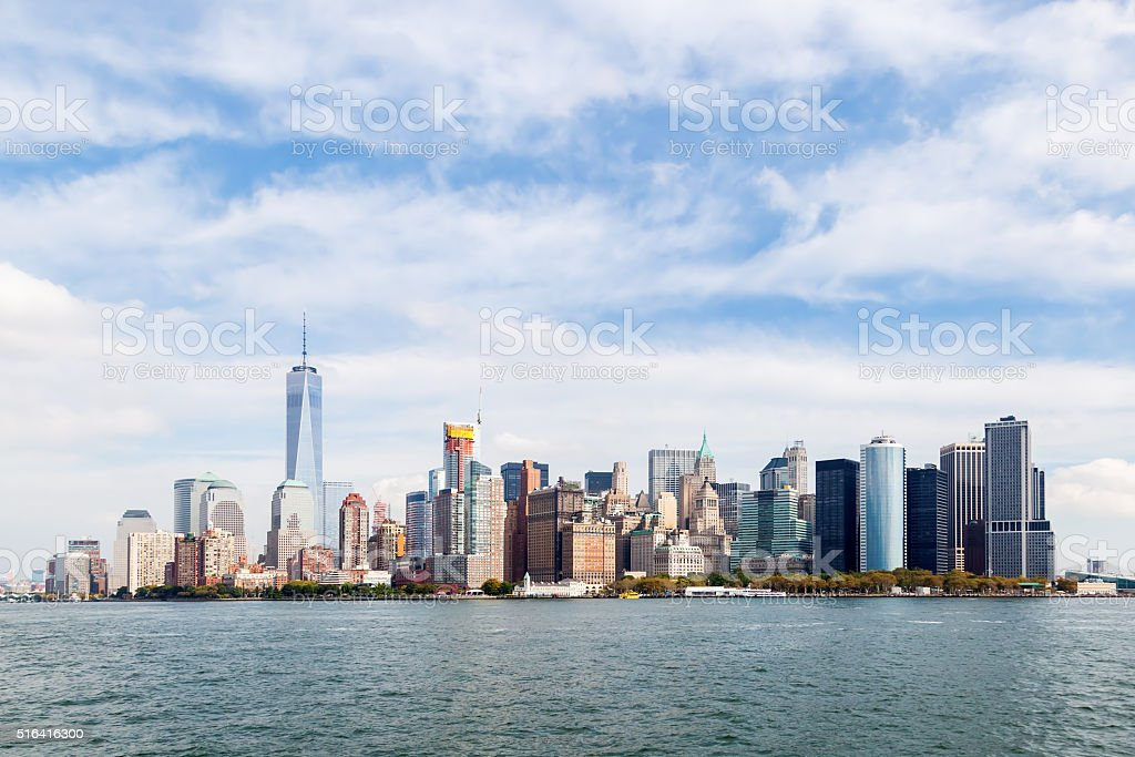 skyline of Lower Manhattn, NYC stock photo
