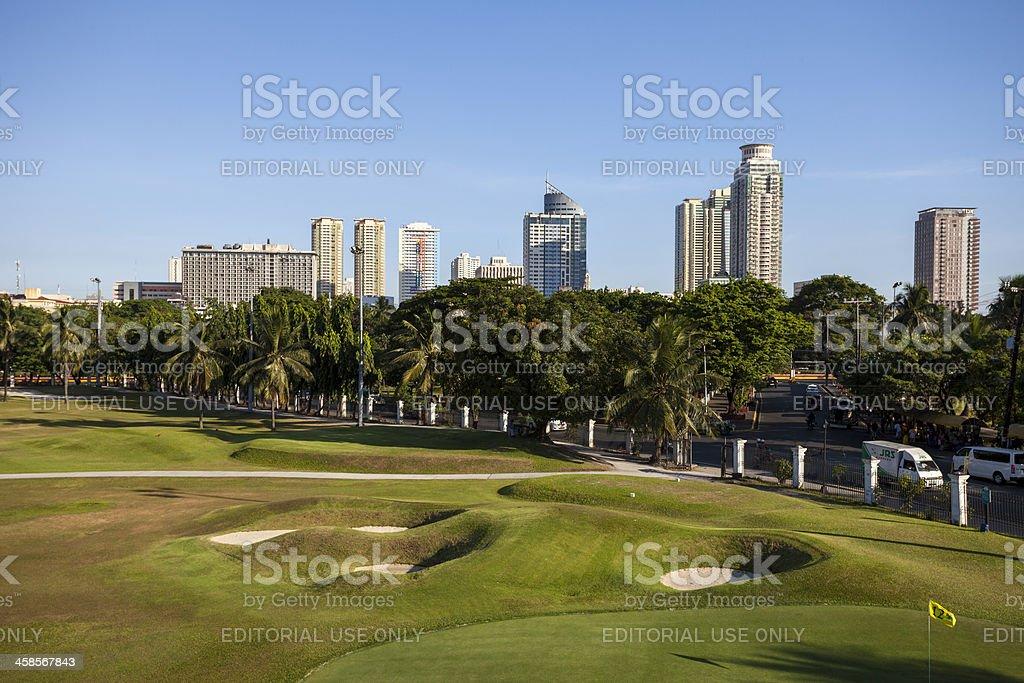 Skyline of Malate City in Metro Manila royalty-free stock photo