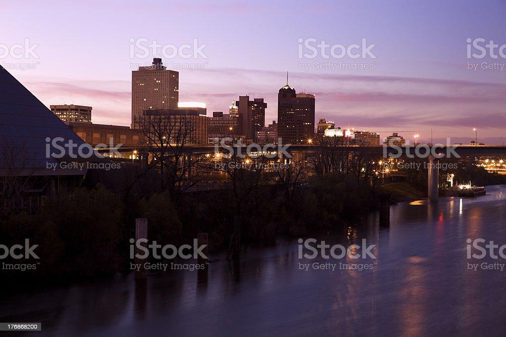 Skyline of Memphis stock photo