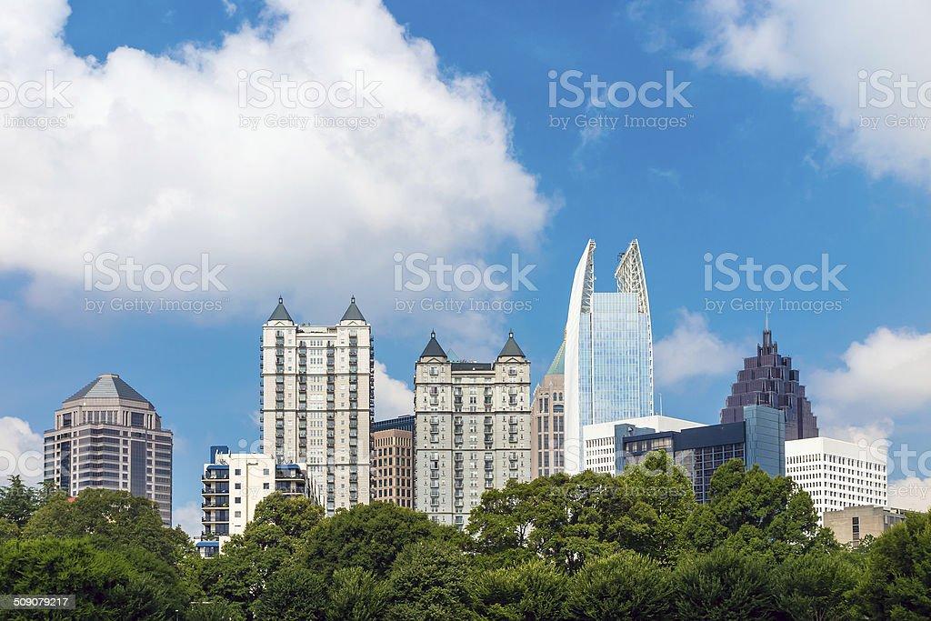 Skyline of midtown Atlanta, Georgia stock photo