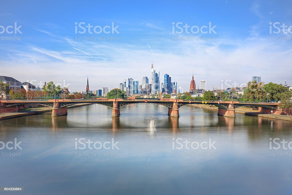 Skyline of modern Frankfurt am Main, Germany stock photo