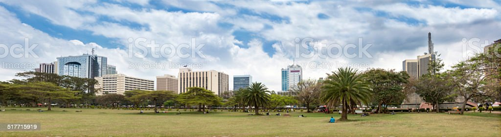 skyline of Nairobi stock photo