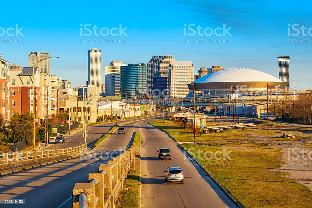 Skyline of New Orleans Louisiana USA stock photo