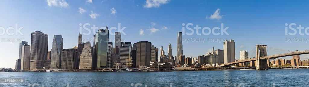 Skyline of New York City royalty-free stock photo