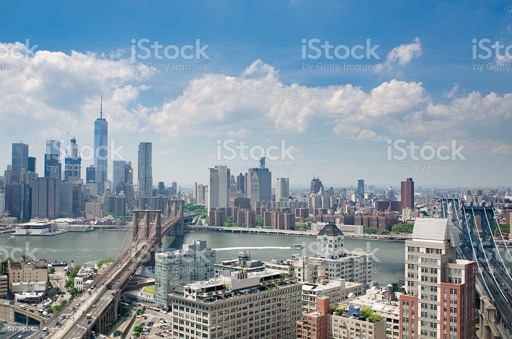 Skyline of New York City stock photo