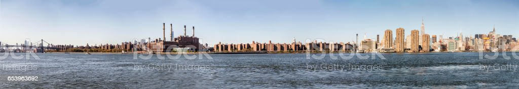 skyline of New York with river Hudson stock photo