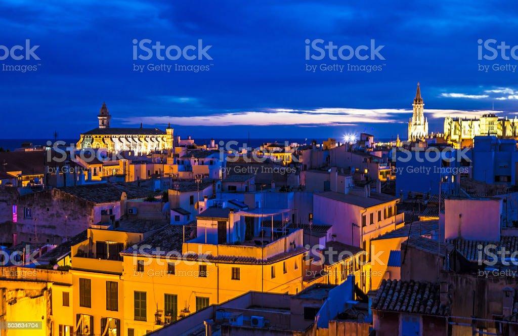 Skyline of Palma de Majorca stock photo