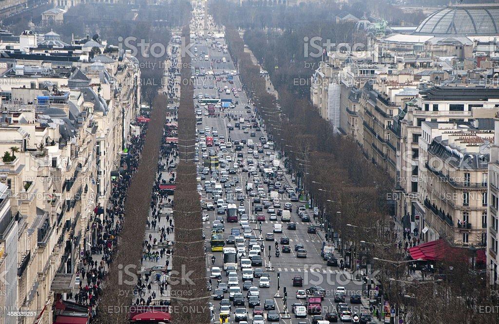 Skyline of Paris royalty-free stock photo