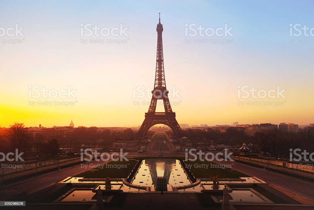 skyline of Paris stock photo