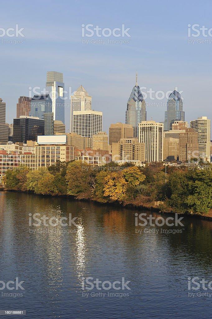 Skyline of Philadelphia stock photo