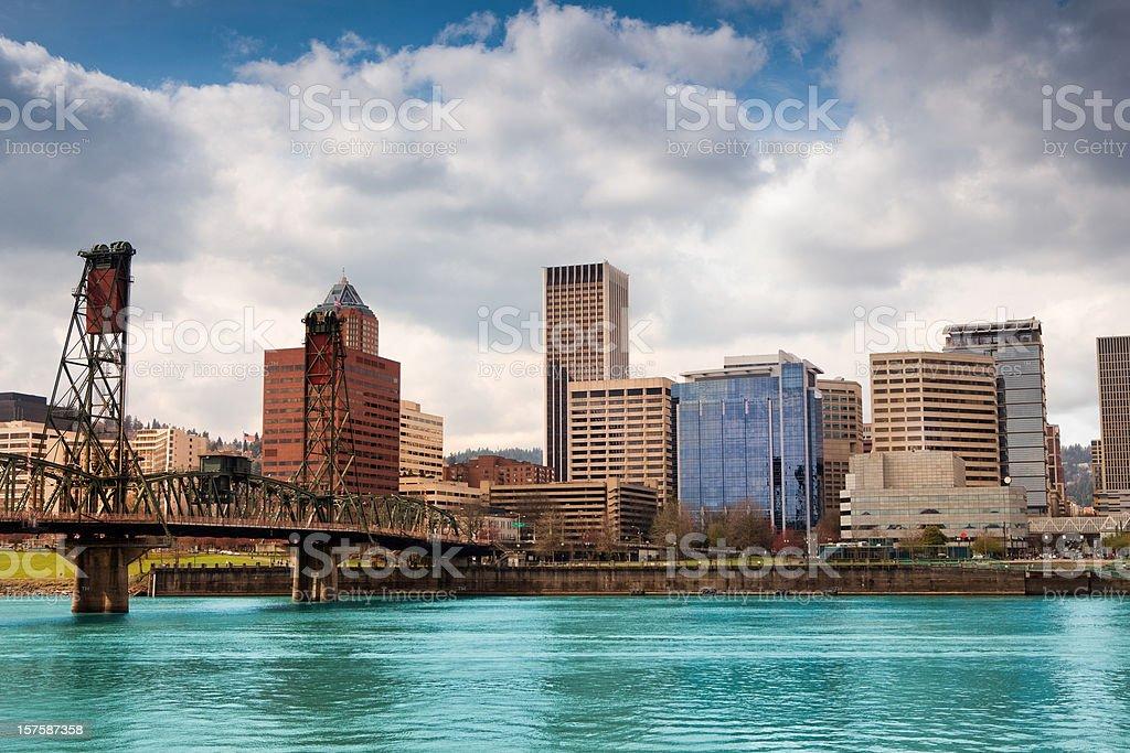 Skyline of Portland by day royalty-free stock photo