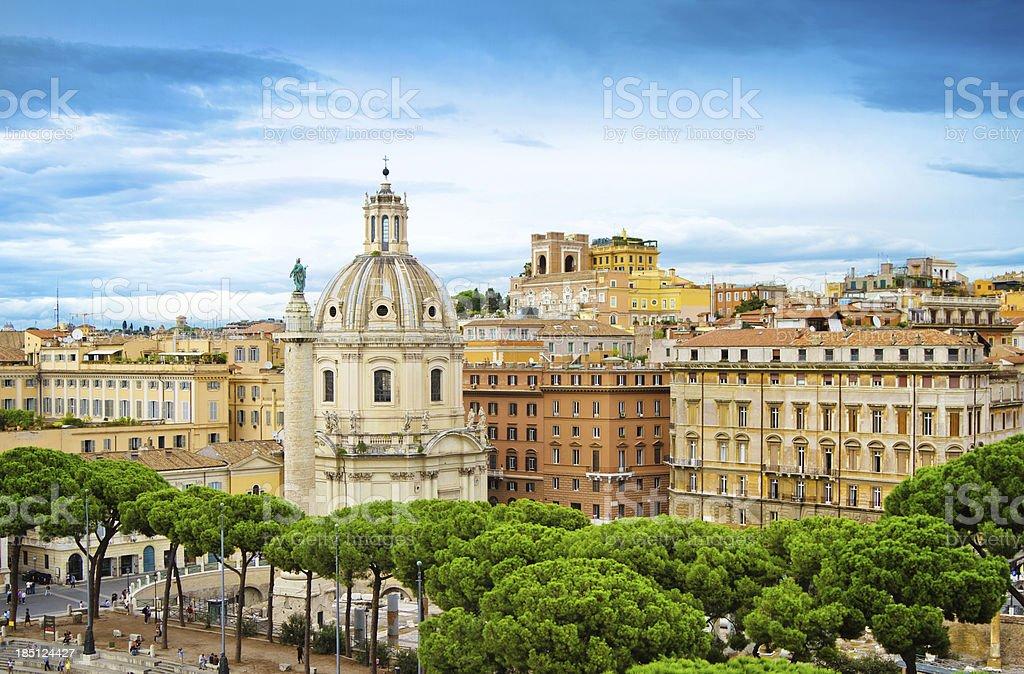 Skyline of Rome, Italy royalty-free stock photo