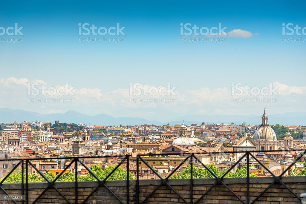 Skyline of Rome stock photo