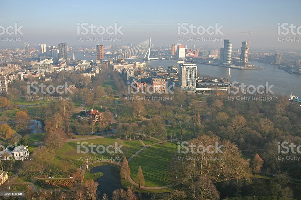 Skyline of Rotterdam (The Netherlands) royalty-free stock photo