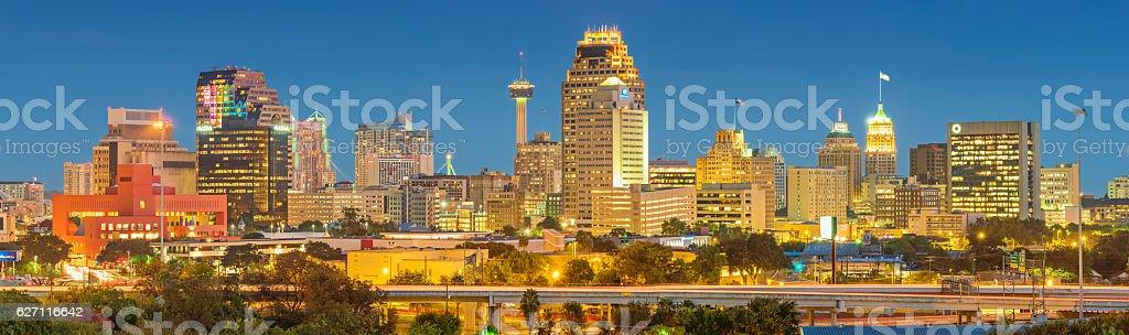 Skyline of San Antonio Texas USA stock photo