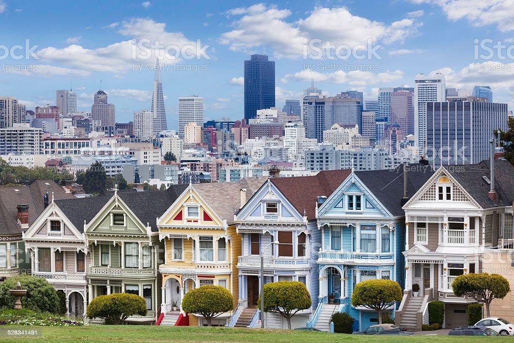 Skyline of San Francisco, California stock photo