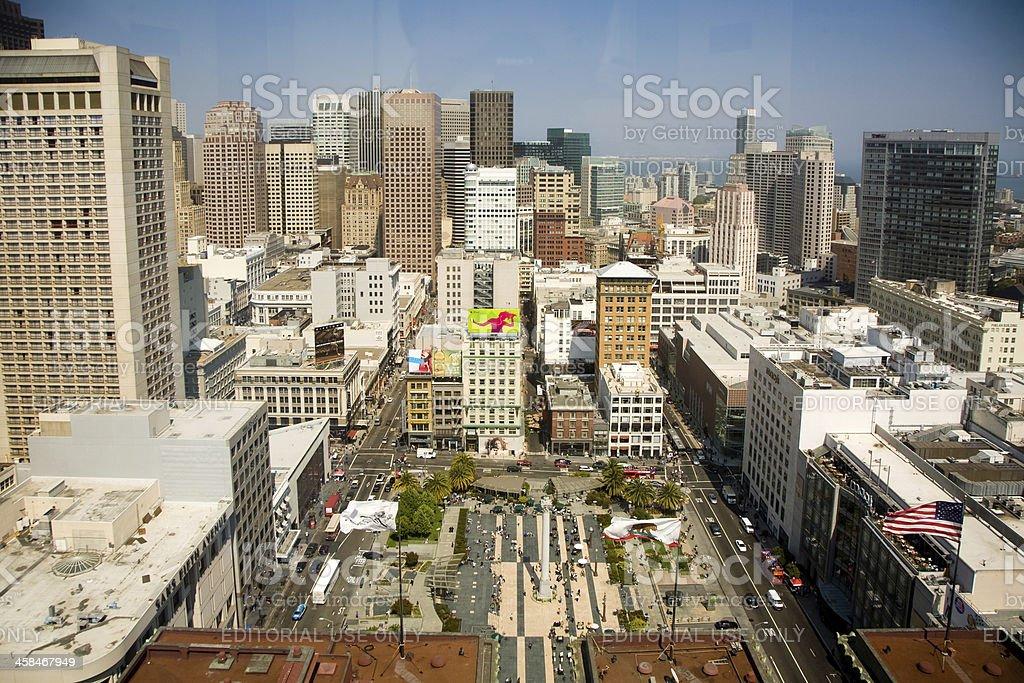 Skyline of San Francisco royalty-free stock photo
