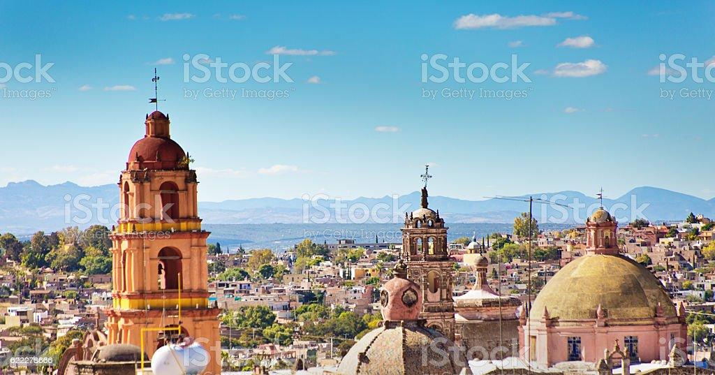 Skyline of San Miguel de Allende, Guanajuato, Mexico stock photo