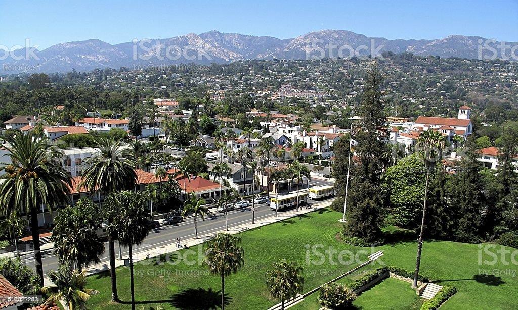 Skyline of Santa Barbara stock photo
