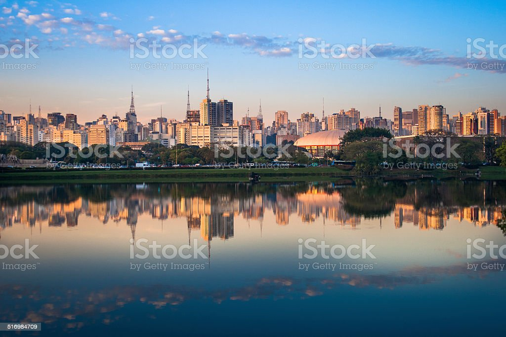 Skyline of Sao Paulo, Brazil stock photo