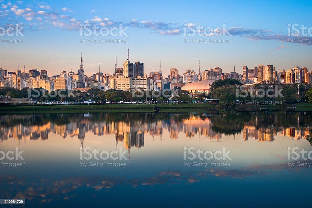 Skyline of Sao Paulo, Brazil stock photo