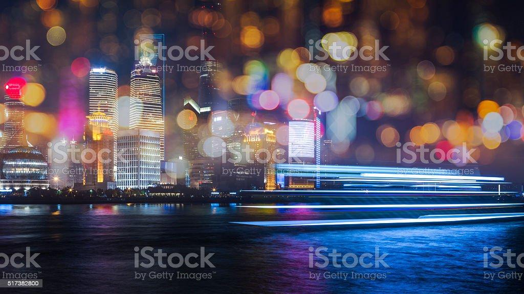skyline of shanghai china stock photo