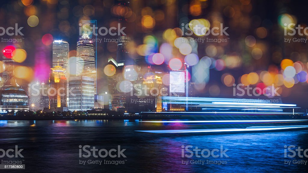 skyline of shanghai china stock photo
