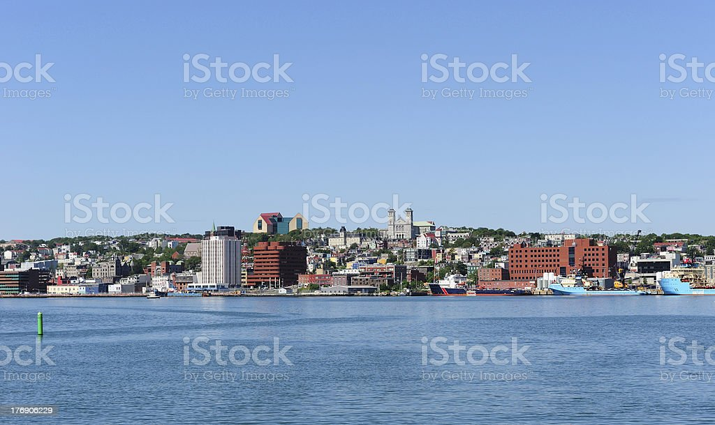 Skyline of St. John's stock photo