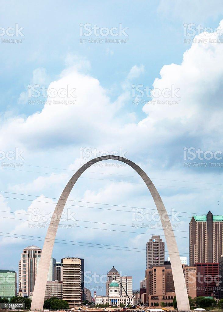 Skyline of St Louis, Missouri. stock photo
