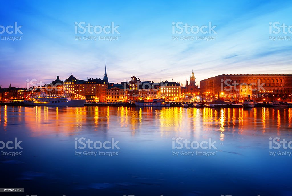 skyline of Stockholm, Sweden stock photo