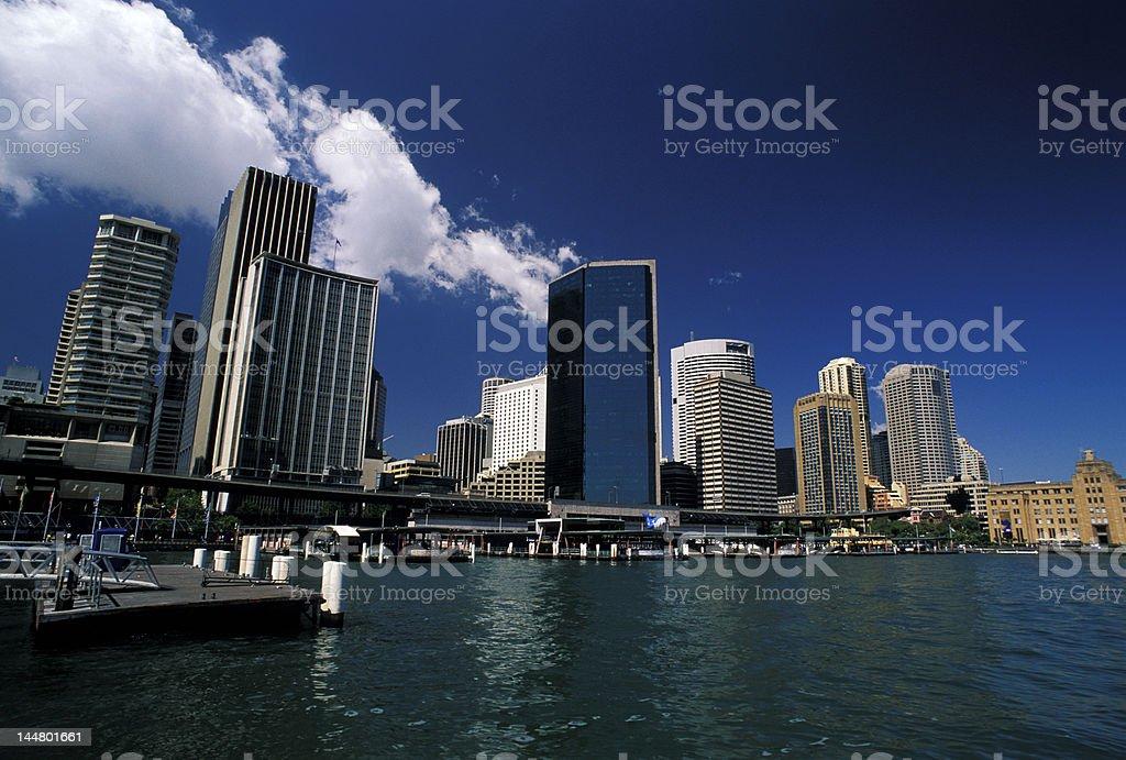 skyline of Sydney City from the port royalty-free stock photo