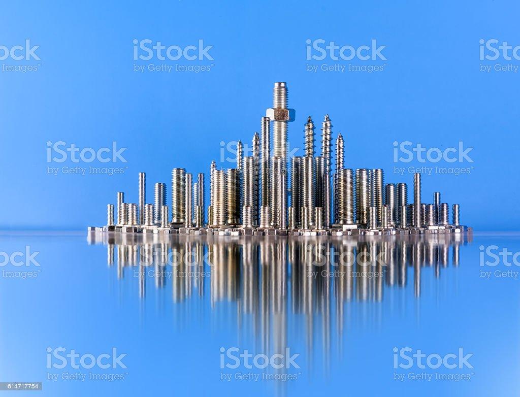 skyline of the city stock photo