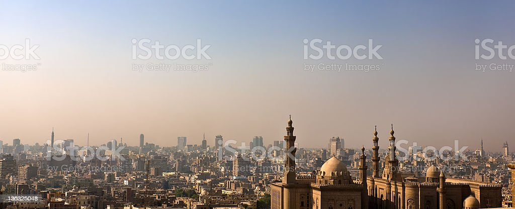 Skyline of the Islamic Cairo stock photo