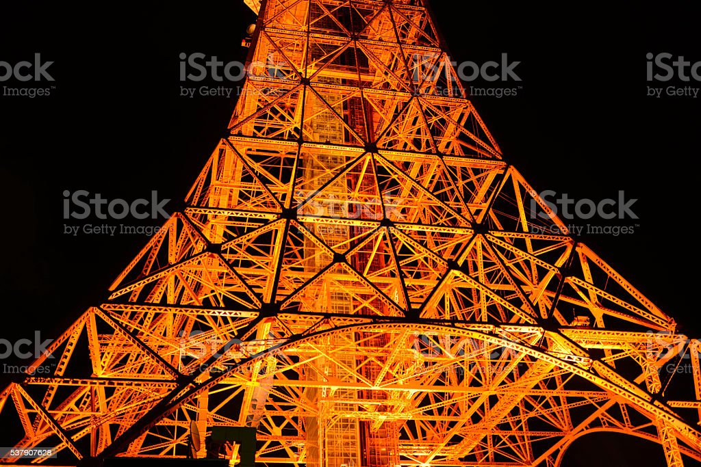 Skyline of Tokyo with the skytree tower. royalty-free stock photo