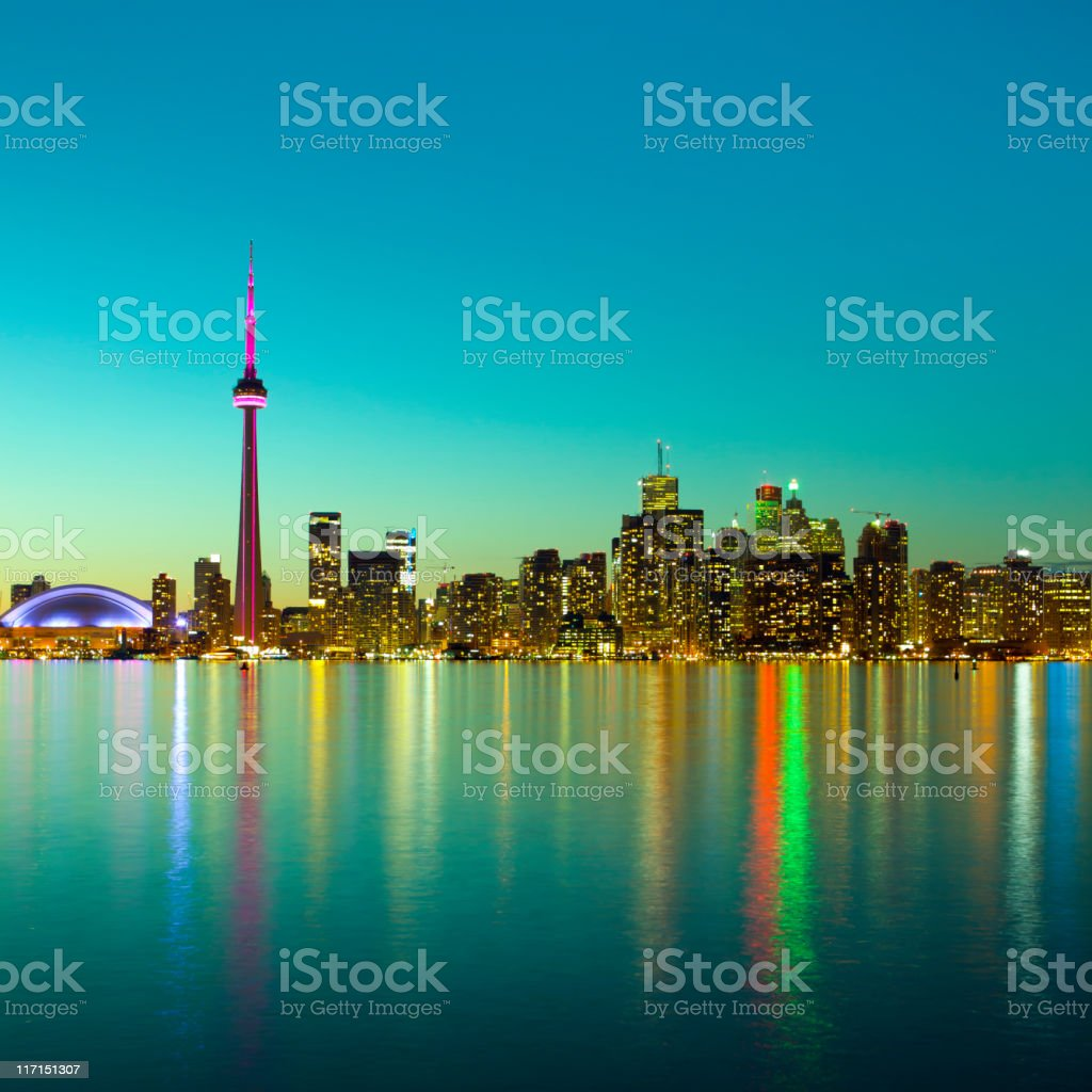 Skyline of Toronto royalty-free stock photo