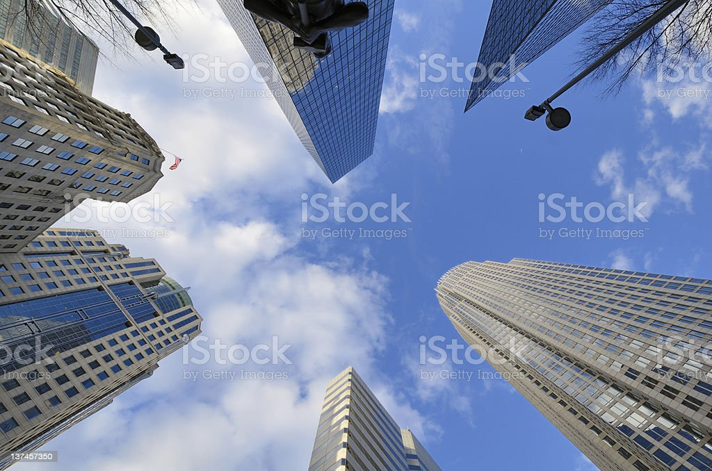 Skyline of Uptown Charlotte royalty-free stock photo