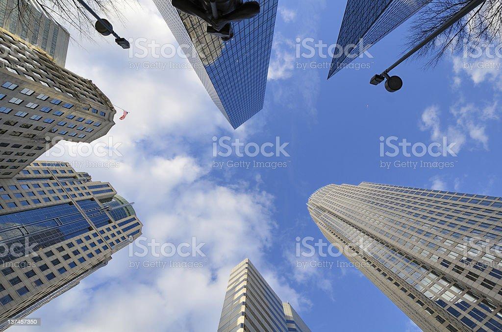 Skyline of Uptown Charlotte stock photo