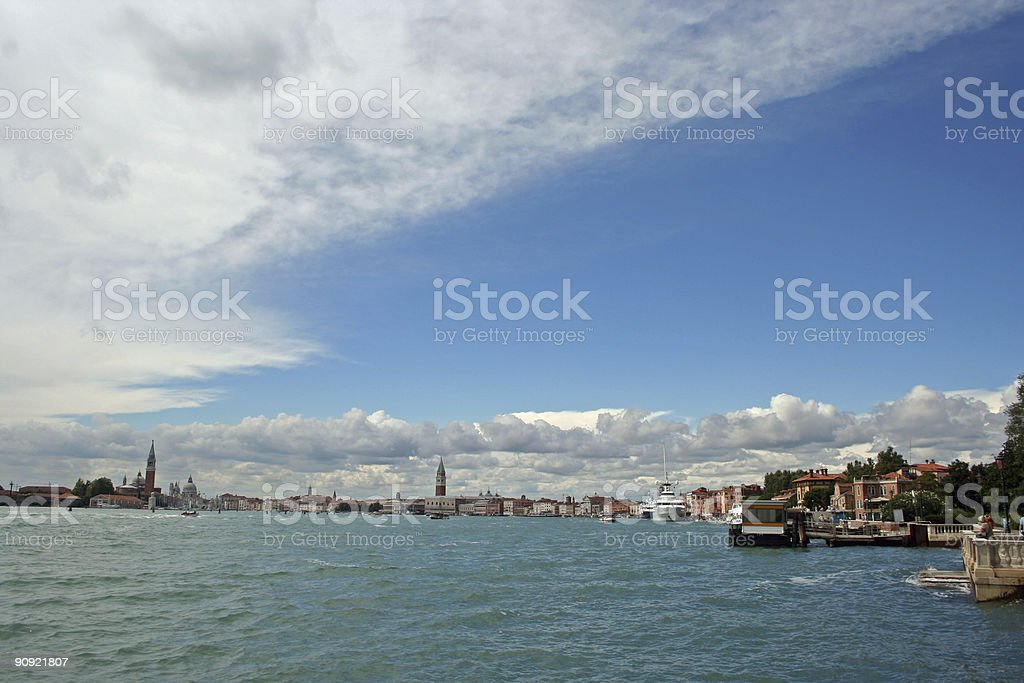skyline of Venice royalty-free stock photo