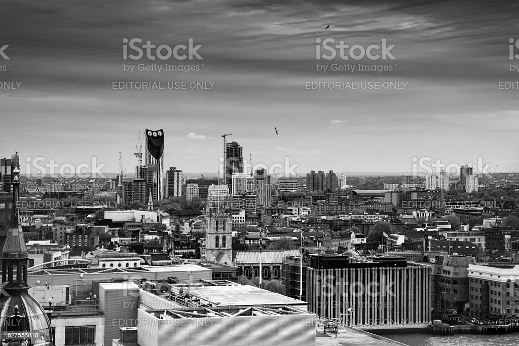 Skyline over London towards the South West stock photo