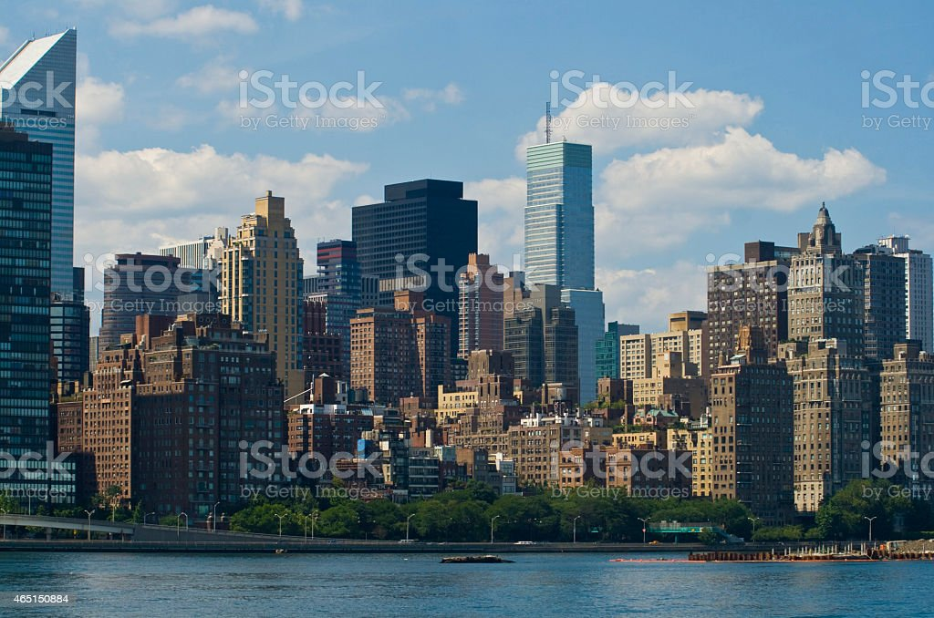 NYC Skyline over the East River stock photo