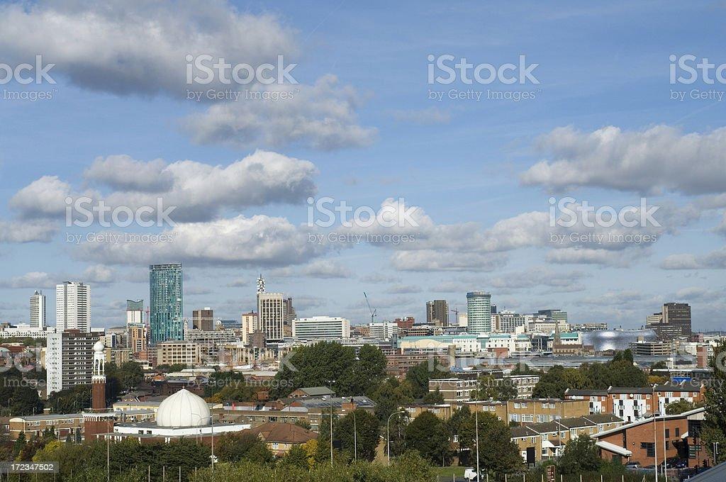 Skyline Panorama. Birmingham West Midlands royalty-free stock photo