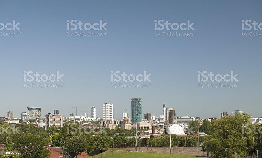 Skyline Panorama of Birmingham West Midlands royalty-free stock photo