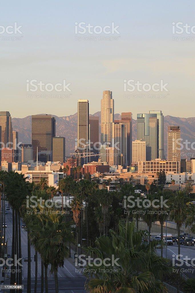 LA Skyline (Portrait) royalty-free stock photo