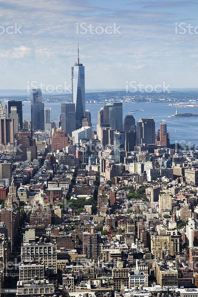 NY skyline royalty-free stock photo